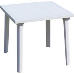 TABLE WEEKEND BICA PP WHITE CM 80X80 H. 72 CM