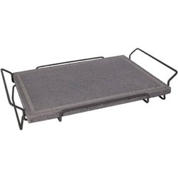 GRILL LAVA STONE WITH RAISED BASE CM 30X40