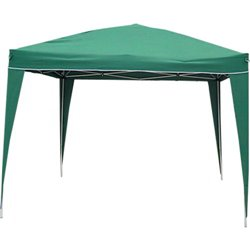 GAZEBO FOLDABLE DOMUS STAINLESS STEEL/POLY GREEN MT 3X3