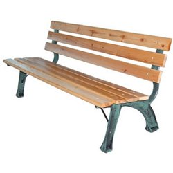 BENCH CAST IRON WOOD-STRONG DOMUS VERN GREEN/BLACK 160 CM