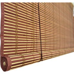 The SHUTTER, WICKER CHERRY EDGED WITH PULLEYS 200 CM H. 300 CM