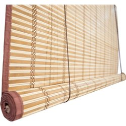 Roller SHUTTER made of NATURAL WICKER fishing TRIP WITH PULLEYS 150 CM H. 300 CM