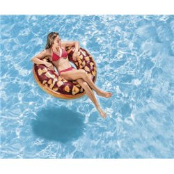 INFLATABLE NUTTY CHOCOLATE DONUT TUBE 52262 INTEX CM 114