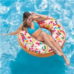 INFLATABLE RAINBOW SPRINKLE DONUT TUBE 52263 INTEX CM 115