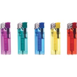LIGHTER RECHARGEABLE ELECTRONICS PIEZO-COLOR MIX