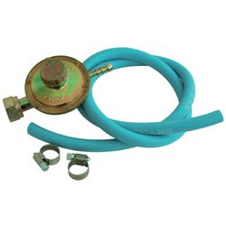 REGULATOR GAS LPG BP CALIBRATION VARIABLE IN A KIT WITH A HOSE MT 1 WITH CABLE TIES 2 PCS