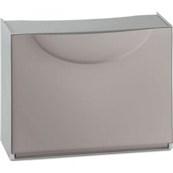 SHOE rack, MODULAR HARMONY BOX TERRY TAUPE/GRAY CM 51X19 H. CM 39