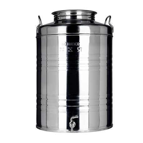 BIN CONTAINER DRUM FOR OIL STAINLESS STEEL LT.5O CRAFTED FOR FAUCET