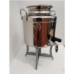 BIN CONTAINER DRUM FOR OIL WELDED 5 L STAINLESS STEEL WITH FAUCET