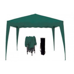 GAZEBO GREEN FOLDABLE ACCORDION-MT.3X3 WITH A BAG FOR TRANSPORT