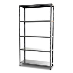 KIT RACK METAL 5 SHELVES WITH REINFORCEMENT, CM.100X37x200H AUCTIONS ENTIRE ROBUST