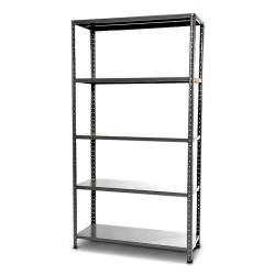 KIT SHELF METAL EURO KIT WITH GALVANIZED BRACKETS WHOLE CM.100X40X186 H. 5 SHELVES