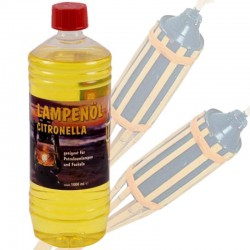 PARAFFIN OIL LEMONGRASS FOR TORCHES, BAMBOO LAMPS, LT.1 of 12 PIECES