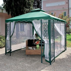 TOP COVER REPLACEMENT FOR GAZEBO MT.3X3 GREEN WITH AIRVENT