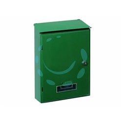 CASSETTA POSTALE GRANDE CON TETTO E CHIAVE A CILINDRO VERDE cm.24x10x36h. colore verde
