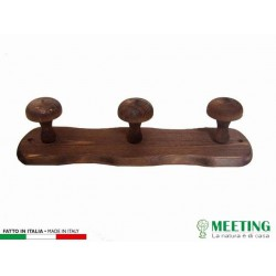 HANGER 3 PLACES IN WOOD DARK WALNUT CM.35X9H 00651161