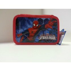 CASE SPIDERMAN SCHOOL 3 COMPARTMENTS WITH ZIP