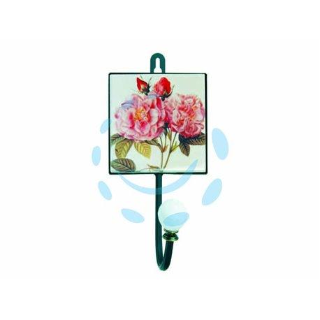 APPENDIABITI 1 POSTO CON DECORAZIONE ROSE cm.10x8x21h.