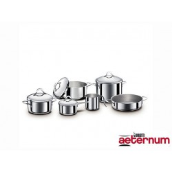 BATTERY POTS DIVINE BIALETTI 10 PIECE STAINLESS STEEL INDUCTION 402192