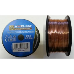 SPOOL FLUX-CORED WIRE ORIGINAL AWELCO FOR WELDING MACHINE NO GAS MM. 0,9 KG.0,500