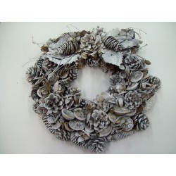 THE CENTREPIECE CM.33 SHABBI CHIC WREATH DRIED FLOWERS